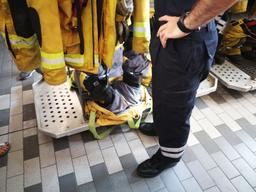 Visite de la caserne des sapeurs-pompiers professionnels